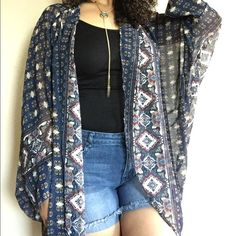 Batik Kimono Beautiful batik kimono top. Can be worn as a bathing suit cover-up or with shorts and a tank. Get in touch with your inner boho babe  Tops