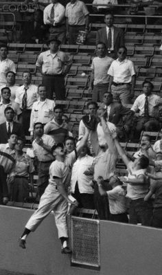 Mickey Mantle Diving for Catch - September 20, 1951