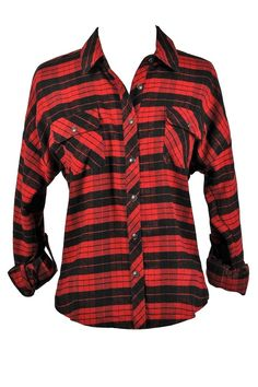 Lily Boutique By The Bonfire Plaid Flannel Top in Red/Black, $22 Red and Black Plaid Shirt, Red and Black Flannel Shirt, 90s Grunge Flannel Shirt www.lilyboutique.com