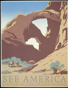 america, art, free download, retro prints, travel, travel posters, united states, vintage, vintage posters, See America Vintage Travel Poster - United States Travel Bureau