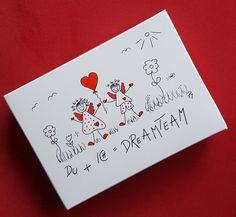 Valentinstagsgeschenke - Geschenkbox Valentinstag/Hochzeitstag (Größe 2) - ein Designerstück von textatelier bei DaWanda