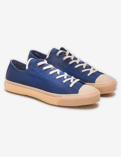 Low Top Sneakers - Indigo Sashiko