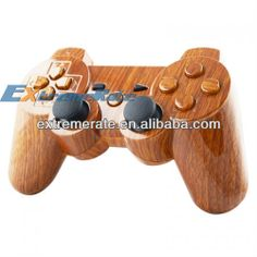 Water Transferring Print Hydro Dip Replacement Wooden Grain Controller Shell For PS3 Housing With Full Mod Kit Button Components $1.99~$8.99