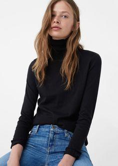 Jersey algodón canalé   MANGO