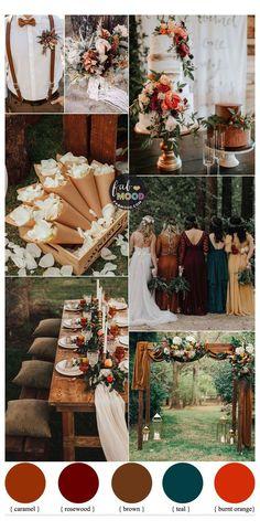 Rustic Wedding Colors, Fall Wedding Colors, September Wedding Colors, Wedding Themes For Fall, Colour Themes For Weddings, Autumn Wedding Dresses, Autumn Wedding Ideas October, Neutral Color Wedding, Fall Wedding Inspiration