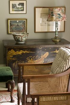 Max Rollitt like the chinoserie with the floral lamp