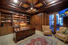 Traditional Home Office – Den – Port Royal – Naples – office life Home Office Design, Home Office Decor, House Design, Office Den, Home Decor, Traditional Home Offices, Traditional House, Luxury Office, Rich Home