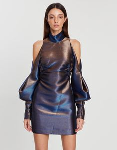 Bella Mini Dress Cute Short Dresses, Dresses Online Australia, Buy Dresses Online, Metallic Dress, Classic Mini, Camilla, A Line Skirts, Cold Shoulder Dress, Sleeves