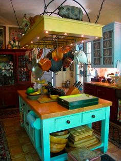 Lovely French countryside bright kitchen