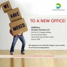 We are happy to announce that we have recently moved the office to a new location. Come and visit our new premises opposite Adinath society on Satara Road, Pune. #drushtitechnetllp