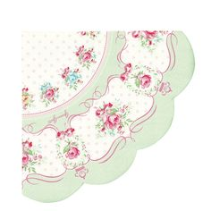 GreenGate Paper Napkin Amelie Green Round 20 Pieces | NEW! GreenGate Spring/Summer 2014 | Originated-Shop