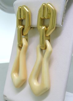 Tiffany & Co Gold Earrings   From a unique collection of vintage more earrings at http://www.1stdibs.com/jewelry/earrings/more-earrings/