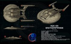 NX class ortho - NX-01 Enterprise (Updated) by unusualsuspex.deviantart.com on @deviantART