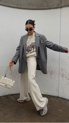 Blazer Outfits Casual, Blazer Fashion, Cute Casual Outfits, Stylish Outfits, Fashion Outfits, Outfit With Blazer, Fashion Ideas, Blazer Jacket, Fashion Inspiration
