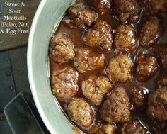sweet and sour meatballs paleo------really good!!!! Will definitely make again. Used ground turkey and organic sugar.