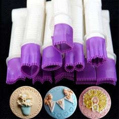 10cm 10 flower type lace edge clip fondant biscuit cutter decorating sugarcraft cake tool