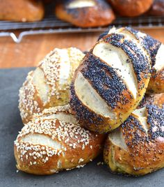 Mauricettes - Pretzel rolls