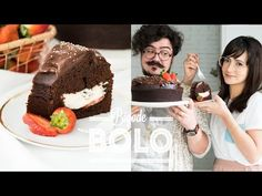 BOLO SENSAÇÃO • CHOCOLATE + MORANGO | BIGODE SOZINHO NA COZINHA | DANI NOCE - YouTube