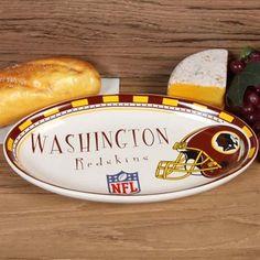 Washington Redskins Game Day Oval Ceramic Platter