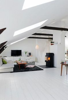 Attic room ideas-15 Functional Solutions for the Living Room - Little Piece Of Me