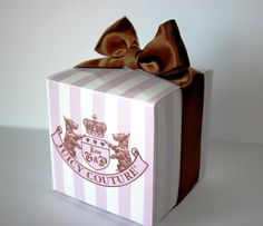 Juicy Couture Designer Inspired Favor Box - 12 boxes. $18.00, via Etsy.