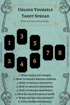 Use these Tarot Spread to Unlock Yourself