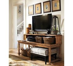 rustic tv table