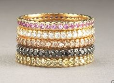 Pick your colors and combinations and stack 'em up.  These beauties brought to you by Paul Morelli.