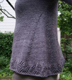 Ravelry: Flourishing pattern by Cecily Glowik MacDonald | Really pretty A-line shape - love those lines.