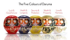 """Daruma is a traditional handmade Japanese wishing doll (or charmingly referred to as a """"GOAL DOLL"""") that keeps us focused on achieving our goals! It is a centuries-old tradition from Japan that is positive, motivational, and fun!"""