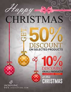Jag Shaving is offering the biggest sale of the year on this Christmas. Jag Shaving is giving 50% off on all of selected products and 10% Off on all products. Use Coupon Code: CHRISTMAS FREE UK SHIPPING ORDER OVER £20. http://www.jagshaving.com/product-category/christmas-sale/ #christmas #christmasale #christmas2016 #mensfashion #shaving #haryalilondon #marconishaving #london #UK #England