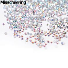 SS4 Crystal ab Nail Rhinestones,1440pcs/lot Flat Back Non Hotfix Glitter Nail Stones,DIY 3d Nail Phones Decorations Supplies *** Detailed information can be found by clicking on the image