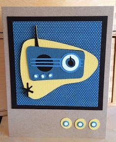 PAPER & STRING: radio from the Nifty Fifties Cricut cartridge.