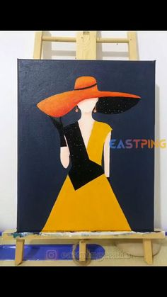 Simple Canvas Paintings, Easy Canvas Art, Amazing Paintings, Easy Paintings, Acrylic Paintings, Canvas Painting Tutorials, Diy Painting, Painting Abstract, Ideas For Canvas Painting