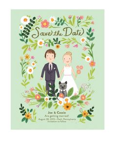 Our custom illustrated save the date!