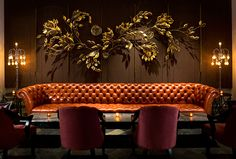 Behind the Design: AvroKO Shares the Inspiration Behind 10 of Its Most Memorable Restaurant and Bar Projects - Beauty & Essex Commercial Design, Commercial Interiors, Booth Seating, Bar Lounge, Restaurant Interior Design, Cafe Design, Ios Design, Dashboard Design, Hospitality Design