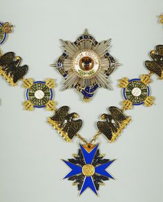 Order of the Black Eagle (Prussia). George V's breast star with garter.