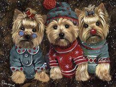 Christmas cards yorkie