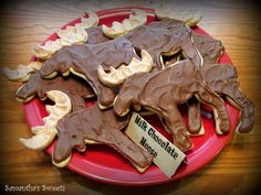 Moose Cookies at a Hunting Party #hunting #partycookies