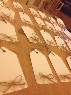 Little labels ready for a memory tree full of kind words