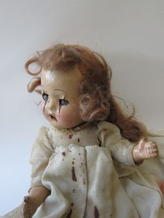 Old Composition Doll by OldMacabreMenagerie
