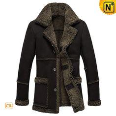 Measure to Made: Mens Black Sheepskin Coat Jacket CW878257 - www.cwmalls.com