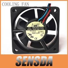 Free Shipping Wholesale ADDA AD0612MB-C76GL 6020 DC 12V  0.13A 3-Pin 3-wire server inverter axial cooling fans $9.99