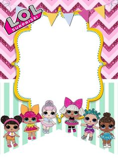 The centerpiece at this LOL Surprise Dolls birthday party i - Her Crochet Happy 7th Birthday, 4th Birthday Parties, Lamb Craft, Doll Birthday Cake, Lol Doll Cake, Free Printable Birthday Invitations, Happy Party, Doll Party, Lol Dolls