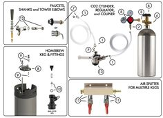 A list of common leak points to check after you hookup a new tank (cylinder) of to reduce the chance of total tank loss, depression and dry mouth. Here's the best way to find a kegerator leak and fix the problem. Homebrew Keg, Home Brewing, Brewery, Faucet, Home Goods, Check, Water Tap, Household Items, Craft Beer