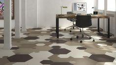 XGONE by Mirage / www.mirage.it / #cersaie2014 #floortile #pavimenti #gresporcellanato #ceramica #rivestimento #walltile #xgone #design #modern #hexagon #esagono #matrici #cemento #moduli #patterns #shape