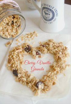 Cherry-Vanilla Granola - The Kitchen Prep Blog