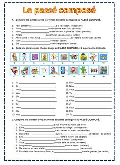 French Language Lessons, French Language Learning, French Lessons, French Flashcards, French Worksheets, High School French, French Course, French Education, French Grammar