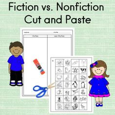 The students will sort clip-art into two categories; Fiction vs. Nonfiction independent practicesmall groupcould be used as an assessmentKid Friendly and EngagingRead the Reviews this is a Best Seller... Fiction Vs Nonfiction, Nonfiction Activities, Math Writing, Teaching Writing, Teaching Ideas, Kindergarten Language Arts, Kindergarten Activities, Sounding Out Words, First Grade Lessons