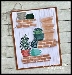 123 Cards, Bloom Where Youre Planted, Pot Plante, Stampin Up Catalog, Perfect Plants, Stamping Up Cards, Cards For Friends, Flower Cards, Greeting Cards Handmade